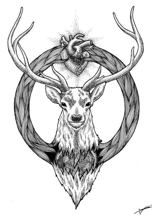 stag-ohmydog-illustration-encre-chine